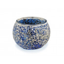 wholesale Candles & Candleholder: Lantern with blue mosaic pebbles, 8 x 10 cm Ø