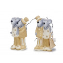 Bridal couple mouse made of ceramics, 9 cm