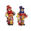 Großhandel Verkleidung & Kostüme: Lappenclown mit Polykopf, 30 cm