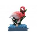 Flamingo magnet made of poly, 6x1x7cm
