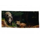 wholesale Bath & Towelling: Bath towel wild boar design 140 x 70 cm