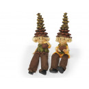 Pine cones Wichtel made of poly, 15 cm