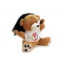 Funny bear made of plush, 25 cm