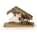 Stable in wood, 30 x 18 cm