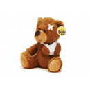 Großhandel Puppen & Plüsch: Bär aus Plüsch, 21 cm mit Verband
