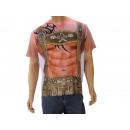 wholesale Shirts & Tops: T-Shirt for men with Lederhosen design, size L