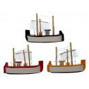Magnes drewniana łódź 3 - razy mieszany , 10 x 7 c