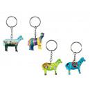 Pferd aus Poly an Schlüsselanhänger, 4,5 cm