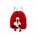 Backpack with stork of plush, 30 cm