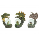 wholesale Costumes: Dinosaur with dinosaur glitter ball made of poly.