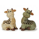 wholesale Candles & Candleholder: Windlight cow made of porcelain, 22 cm