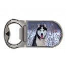 Metal magnet bottle opener Husky, 4x9cm