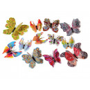 Magnet Butterfly, colorful colors, set of 12