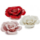 Flowers of porcelain, 10 cm Ø