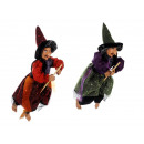 Witch made of poly, flying, 45 cm