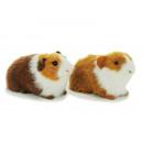 Deco guinea pig with faux fur 13 cm