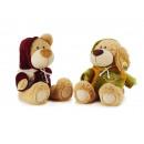 Bear + dog in plush, 40 cm
