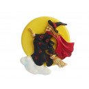 Magnet witch made of poly, 7.5 cm