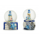 Glitter ball nautical design with magnet made of p