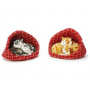 wholesale Organisers & Storage: Decoration pair of cats in basket with artificial