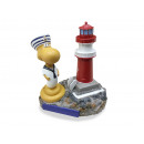 Wattworm with lighthouse made of poly 9x6x11cm