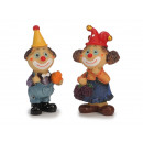 wholesale Toys: Clown made of poly with fruits, 5 x 4 x 11 cm