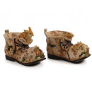 Shoe with rabbit family of poly 21 x 9 x 11 cm