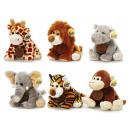 Großhandel Spielwaren: Wildtiere aus Plüsch, 20 cm