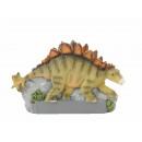 Stegosaurus magnet made of poly, 8x1x5cm