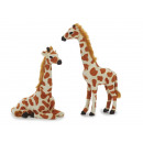 Decoration Giraffe with artificial fur, 20 cm and