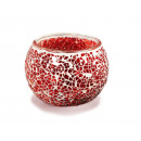 wholesale Candles & Candleholder: Lantern with red mosaic pebbles, 8 cx 10 cm Ø