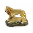 Löwenpaar aus Poly 8x4x6cm