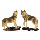 Wolf aus Poly, 15 cm