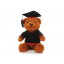 Bear 'Academic' made of plush, 18x17x28cm