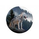 Photo magnet wolf, Ø 3.5 cm