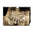 Großhandel Fashion & Accessoires: Foto Magnet Lederhose, 5,5x8cm