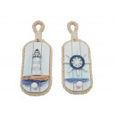 wholesale Household Goods: Coat hook with anchor and wooden lighthouse