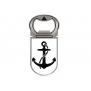 Metal magnet bottle opener anchor, 4x9cm