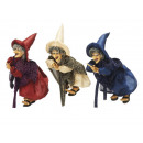 wholesale Home & Living: Witch made of poly, flying, 18 cm
