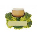 Wine glass Roman magnet made of poly, 7x1x5cm