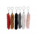 Key pendant tail made of plush, 15 cm