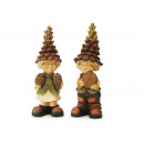 Pine cones Wichtel made of poly, 30 cm