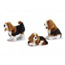 Decoration dog with artificial fur, 12 cm