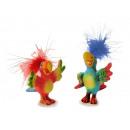 Papuga wykonana z poli, 5x5x7cm