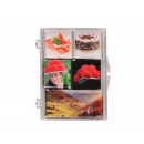Magnet set 5pcs. 7 x 9 cm, Black Forest design