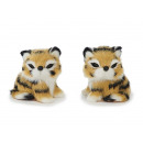 Decoration Tigerbaby with artificial fur, 5 cm