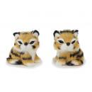 wholesale Toys: Decoration Tigerbaby with artificial fur, 5 cm