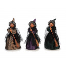 Witch made of poly standing 25 cm