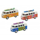 VW Bus T1 with surfboard, 12cm