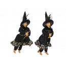 Witch made of poly, flying, 40 cm
